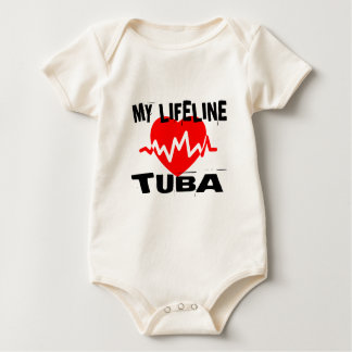 MY LIFE LINE TUBA MUSIC DESIGNS BABY BODYSUIT