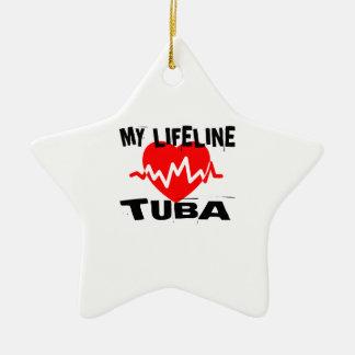 MY LIFE LINE TUBA MUSIC DESIGNS CERAMIC ORNAMENT