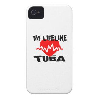 MY LIFE LINE TUBA MUSIC DESIGNS iPhone 4 CASE