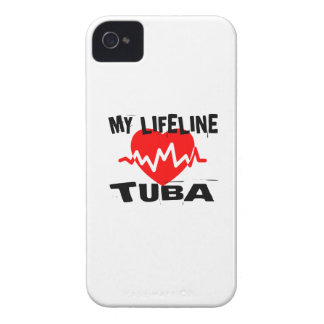 MY LIFE LINE TUBA MUSIC DESIGNS iPhone 4 COVERS