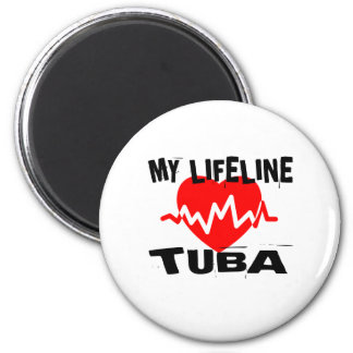 MY LIFE LINE TUBA MUSIC DESIGNS MAGNET
