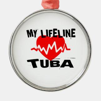 MY LIFE LINE TUBA MUSIC DESIGNS METAL ORNAMENT