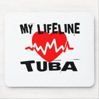 MY LIFE LINE TUBA MUSIC DESIGNS MOUSE PAD