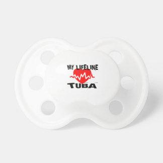 MY LIFE LINE TUBA MUSIC DESIGNS PACIFIER