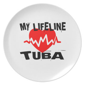 MY LIFE LINE TUBA MUSIC DESIGNS PLATE