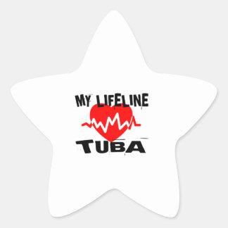 MY LIFE LINE TUBA MUSIC DESIGNS STAR STICKER