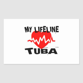 MY LIFE LINE TUBA MUSIC DESIGNS STICKER