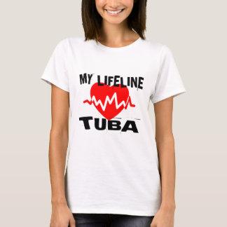 MY LIFE LINE TUBA MUSIC DESIGNS T-Shirt