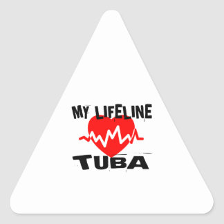 MY LIFE LINE TUBA MUSIC DESIGNS TRIANGLE STICKER