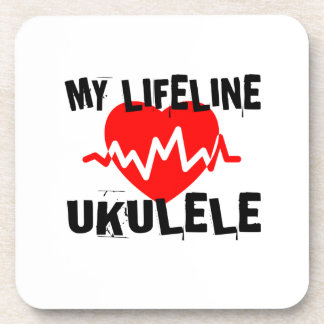 MY LIFE LINE UKULELE MUSIC DESIGNS COASTER
