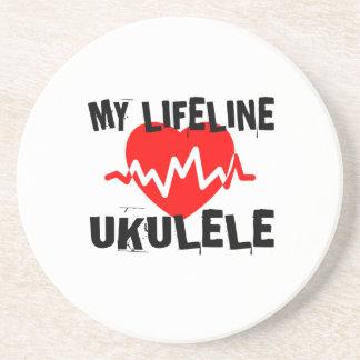 MY LIFE LINE UKULELE MUSIC DESIGNS COASTER