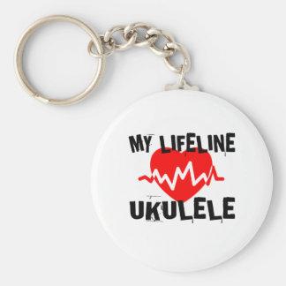 MY LIFE LINE UKULELE MUSIC DESIGNS KEYCHAIN