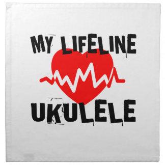 MY LIFE LINE UKULELE MUSIC DESIGNS NAPKIN