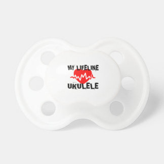 MY LIFE LINE UKULELE MUSIC DESIGNS PACIFIER