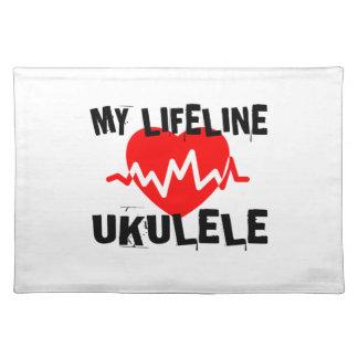 MY LIFE LINE UKULELE MUSIC DESIGNS PLACEMAT