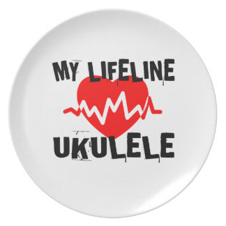 MY LIFE LINE UKULELE MUSIC DESIGNS PLATE