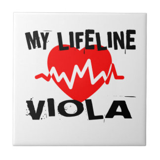 MY LIFE LINE VIOLA MUSIC DESIGNS TILE