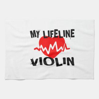 MY LIFE LINE VIOLIN MUSIC DESIGNS KITCHEN TOWEL