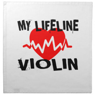 MY LIFE LINE VIOLIN MUSIC DESIGNS NAPKIN