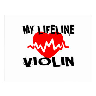 MY LIFE LINE VIOLIN MUSIC DESIGNS POSTCARD