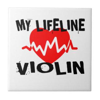 MY LIFE LINE VIOLIN MUSIC DESIGNS TILE