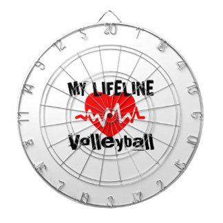 My Life Line Volleyball Sports Designs Dartboard