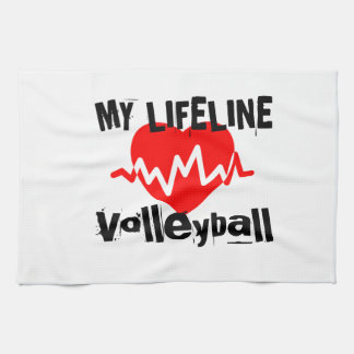 My Life Line Volleyball Sports Designs Kitchen Towel