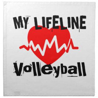My Life Line Volleyball Sports Designs Napkin
