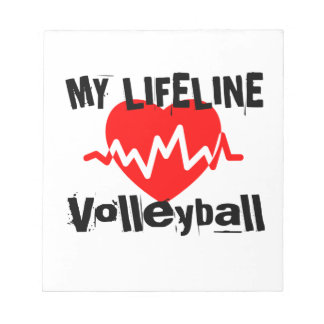 My Life Line Volleyball Sports Designs Notepad
