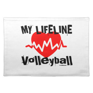 My Life Line Volleyball Sports Designs Placemat