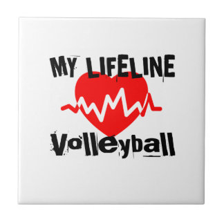 My Life Line Volleyball Sports Designs Tile