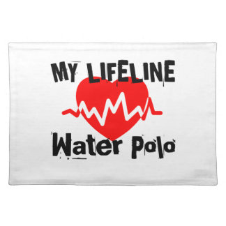 My Life Line Water Polo Sports Designs Placemat