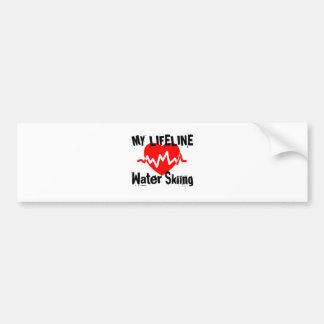 My Life Line Water Skiing Sports Designs Bumper Sticker