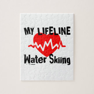 My Life Line Water Skiing Sports Designs Jigsaw Puzzle