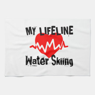 My Life Line Water Skiing Sports Designs Kitchen Towel