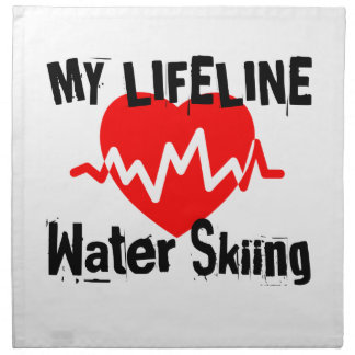 My Life Line Water Skiing Sports Designs Napkin