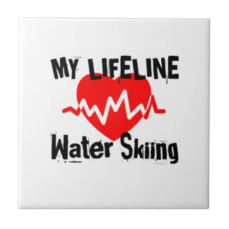My Life Line Water Skiing Sports Designs Tile