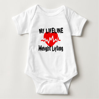 My Life Line Weight Lifting Sports Designs Baby Bodysuit
