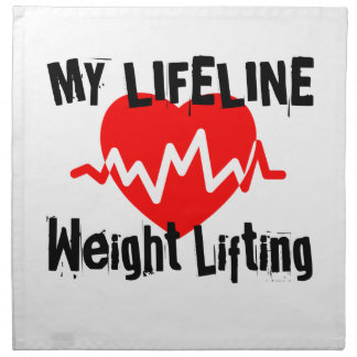 My Life Line Weight Lifting Sports Designs Napkin