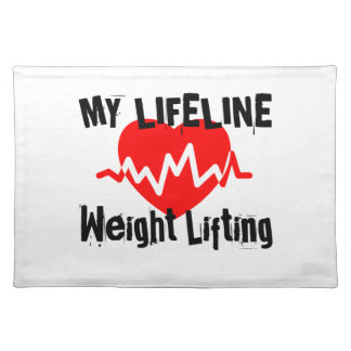 My Life Line Weight Lifting Sports Designs Placemat