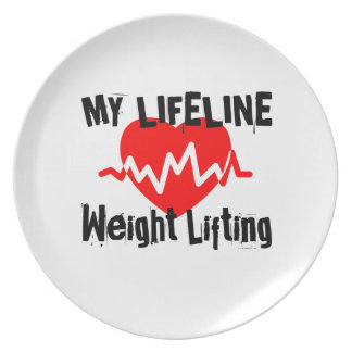 My Life Line Weight Lifting Sports Designs Plate