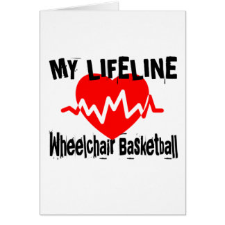 My Life Line Wheelchair Basketball Sports Designs Card