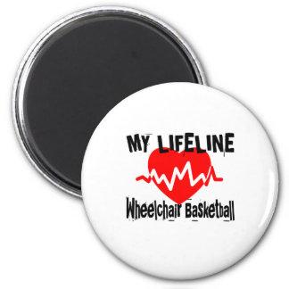 My Life Line Wheelchair Basketball Sports Designs Magnet