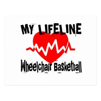 My Life Line Wheelchair Basketball Sports Designs Postcard