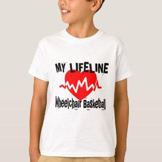 My Life Line Wheelchair Basketball Sports Designs T-Shirt