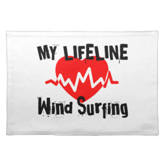 My Life Line  Wind Surfing Sports Designs Placemat