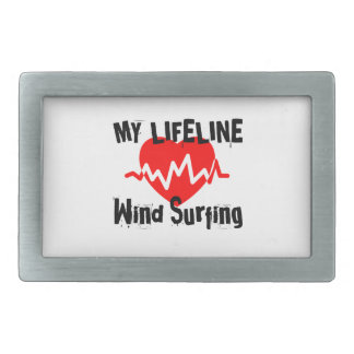 My Life Line  Wind Surfing Sports Designs Rectangular Belt Buckle