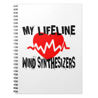 MY LIFE LINE WIND SYNTHESIZERS MUSIC DESIGNS NOTEBOOK