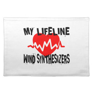 MY LIFE LINE WIND SYNTHESIZERS MUSIC DESIGNS PLACEMAT