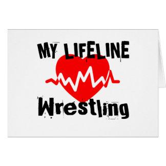 My Life Line Wrestling Sports Designs Card